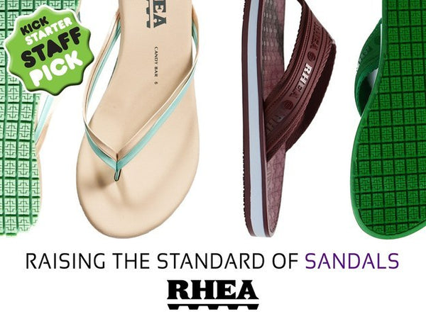kickstarter_rhea_sandals_flipflops_slipresistant_green_burgundy_brown