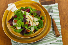 Cranberry Pear Salad with Blue Cheese and Pecan Praline Vinaigrette Recipe