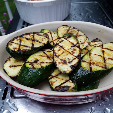 Hot Oil Grilled Zucchini