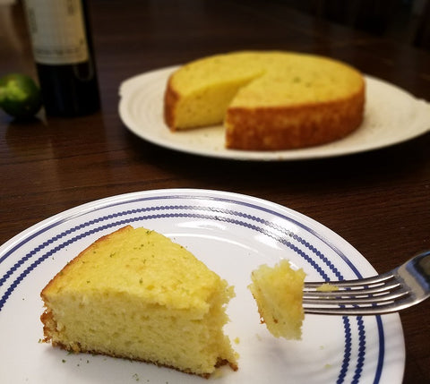 Olive Oil Yogurt Cake, made with Lime Olive Oil