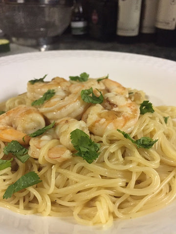 Shrimp Pasta with Lemon Pepper Olive Oil recipe by New Canaan Olive Oil in CT