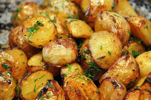 Oven Roasted Potatoes with Flavored Olive Oil by New Canaan Olive Oil