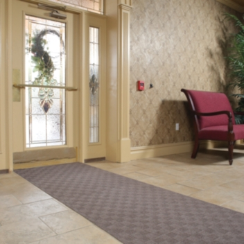 PIG® Grippy® Adhesive-Backed Checkered Entrance Mat - GRP923X25