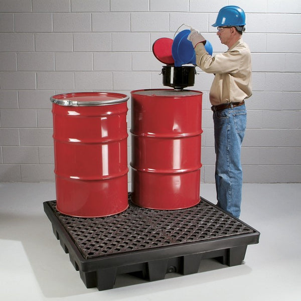 PIG® 4-Drum Poly Spill Containment Pallet - PAK210