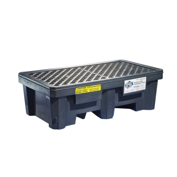 PIG® Economy 2-Drum Poly Spill Containment Pallet - PAK605