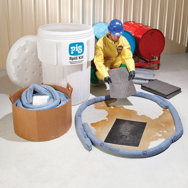 PIG® Spill Kit in 360-Liter Overpack Salvage Drum - KIT202