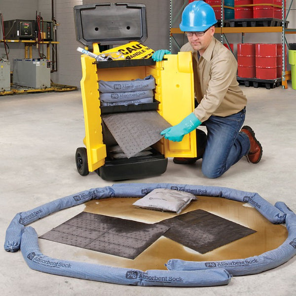 PIG® Spill Kit in High-Visibility Cart - KIT244