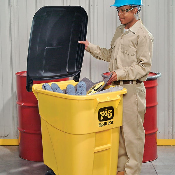 PIG® Spill Kit in High-Visibility Mobile Container - KIT273