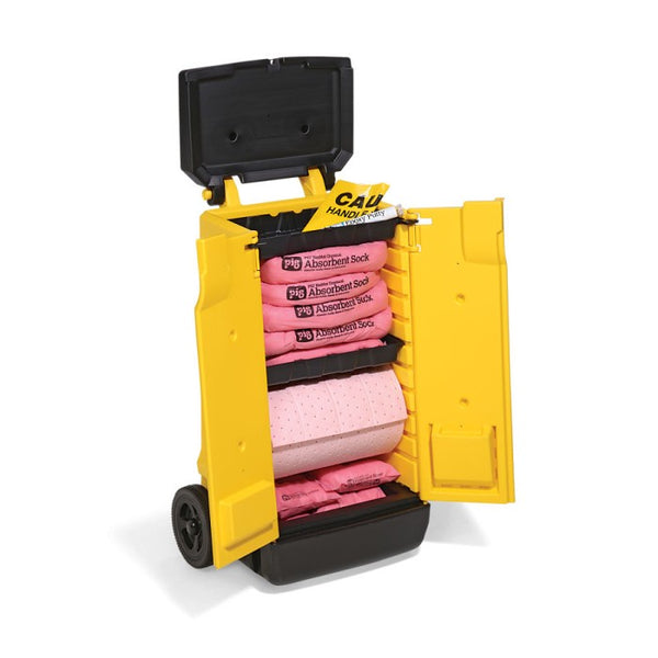PIG® HazMat Spill Kit in High-Visibility Cart - KIT344