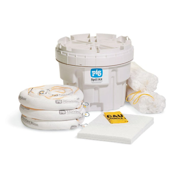 PIG® Oil-Only Spill Kit in a 76L Overpack Salvage Drum - KIT411-01