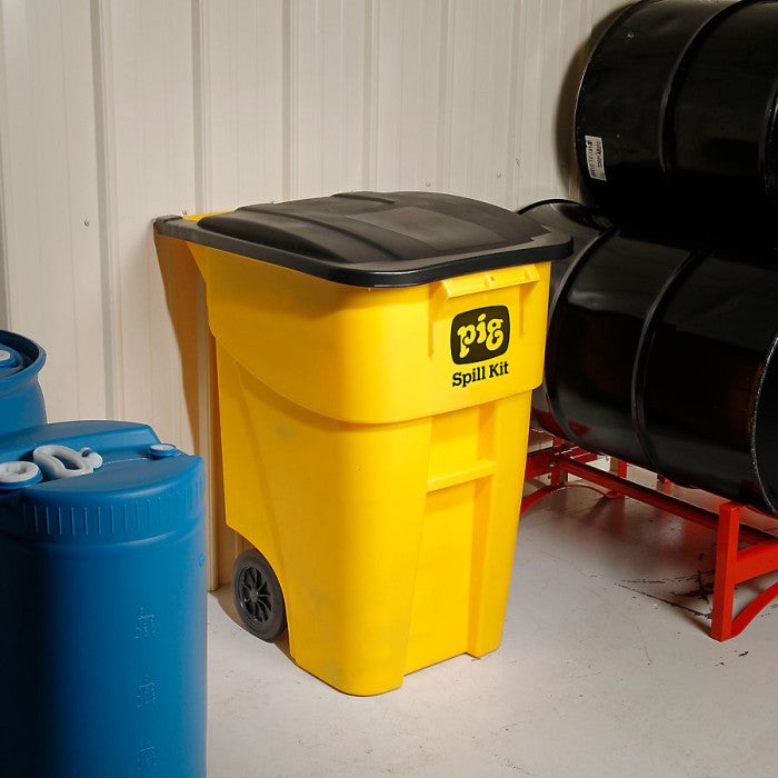 Pig 174 Oil Only High Visibility Mobile Container Kit
