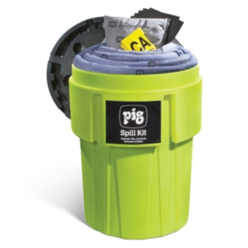 PIG® Spill Kit in 360-Liter High-Visibility Container - KIT262