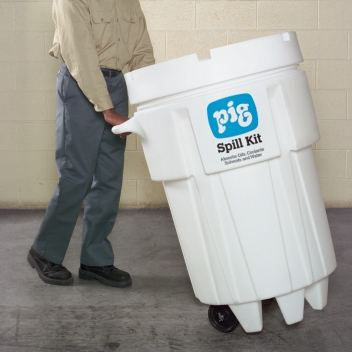 PIG® Spill Kit in 360-Liter Wheeled Overpack Salvage Drum - KIT241