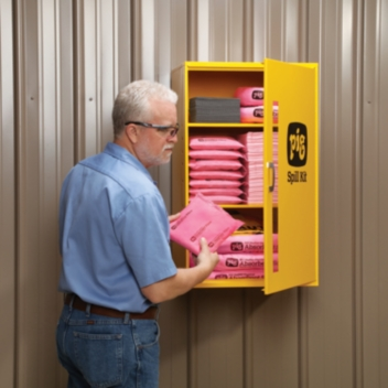 PIG® HazMat Spill Kit in Large Wall-Mount Cabinet - KIT328