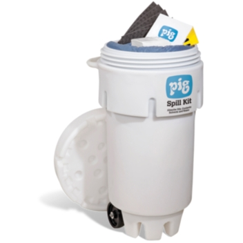 PIG® Spill Kit in 189-Liter Wheeled Overpack Salvage Drum - KIT272