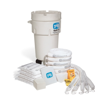 PIG® Oil-Only Spill Kit in 189-Liter Wheeled Overpack Salvage Drum - KIT468
