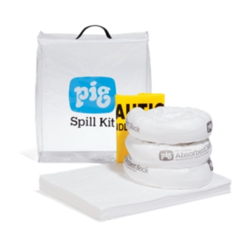 PIG® Oil-Only Spill Kit in See-Thru Bag - KIT470