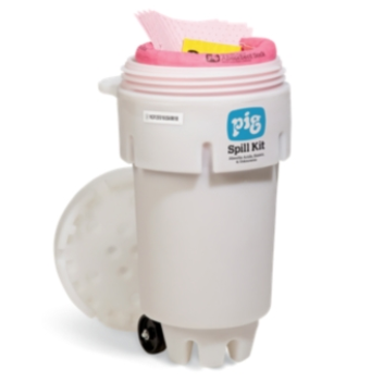 PIG® HazMat Spill Kit in 189-Liter Wheeled Overpack Salvage Drum - KIT365