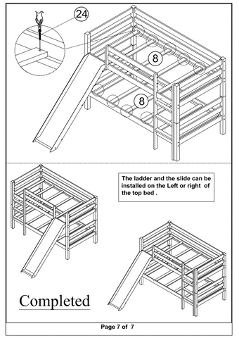 Bunk Bed with Slide Assembly Instructions