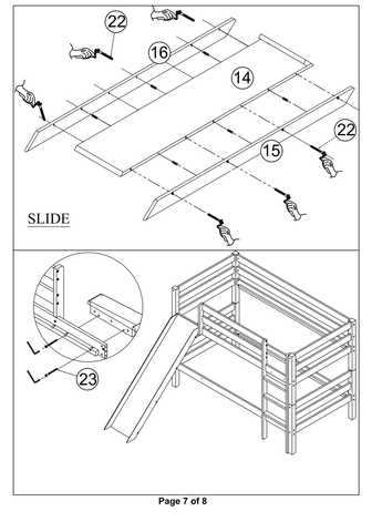 Bunk Bed with Slides 7