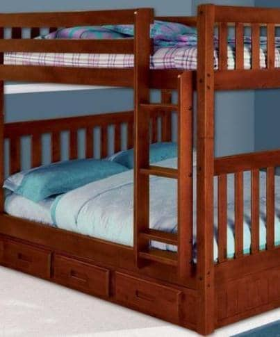 Abigail Full Bunk Bed with Storage Custom Kids Furniture