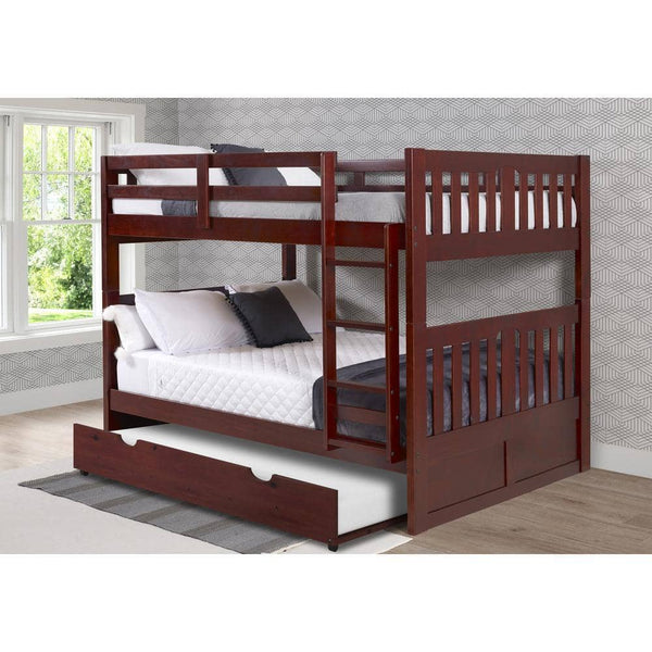 Abigail Full Bunk Bed with Trundle Custom Kids Furniture