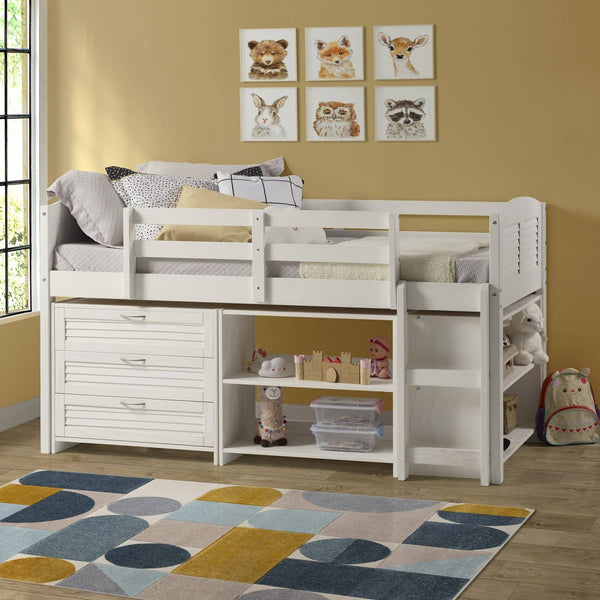 Adalyn White Loft Beds for Kids Custom Kids Furniture
