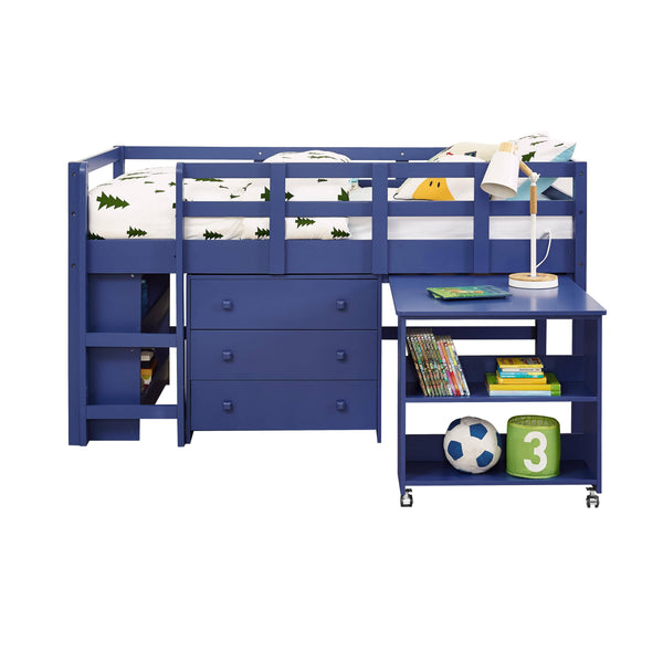 Adam Boys Loft Bed with Desk and Dresser in One Custom Kids Furniture