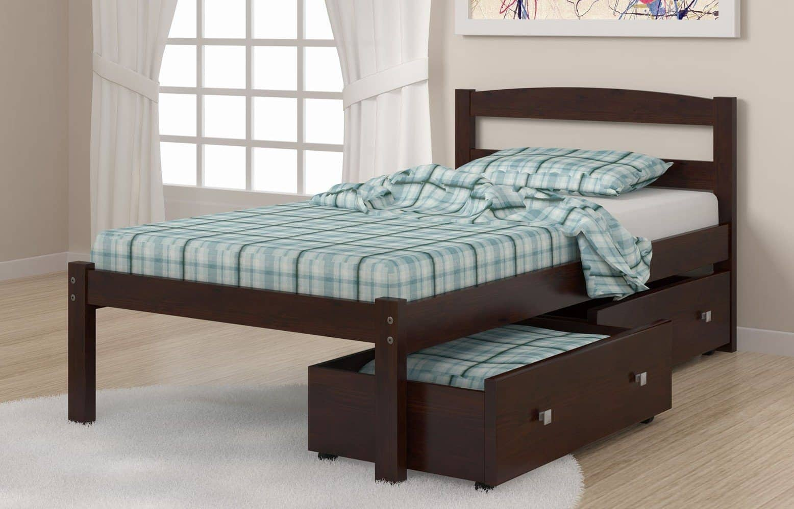 Twin Bed Frame With Storage Custom Kids Furniture