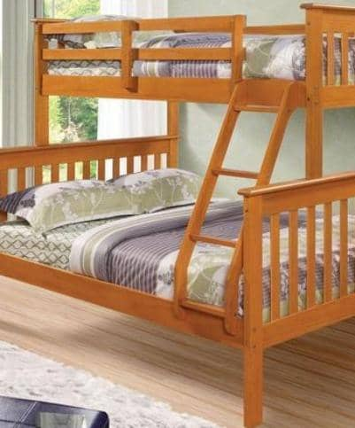 Alaina Honey Twin over Full Bunk Bed Custom Kids Furniture