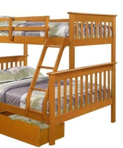 Alaina Twin over Full Bunk Bed with Storage Custom Kids Furniture