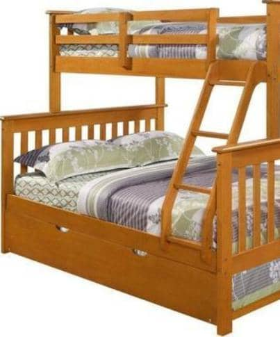 Alaina Twin over Full Bunk Bed with Trundle Custom Kids Furniture