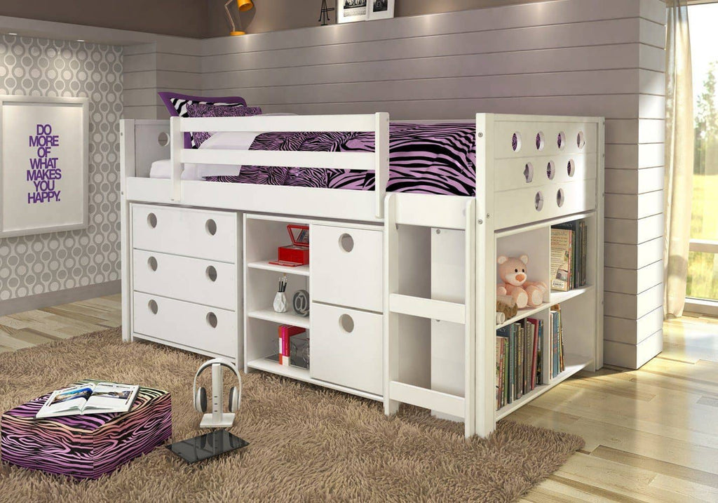 Alyssa Junior Loft Bed with Dressers Custom Kids Furniture
