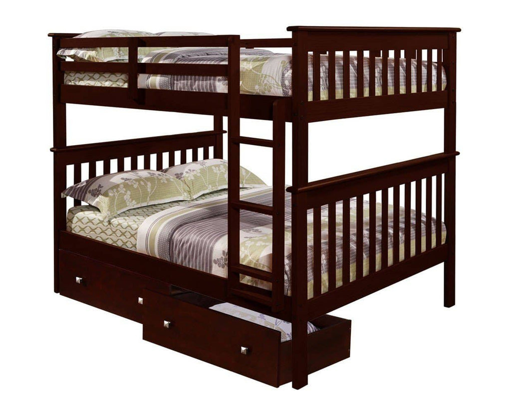 Andrew Full Bunkbed with Storage Drawers Custom Kids Furniture