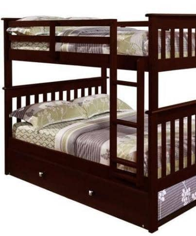 Andrew Full Bunkbed with Trundle Custom Kids Furniture
