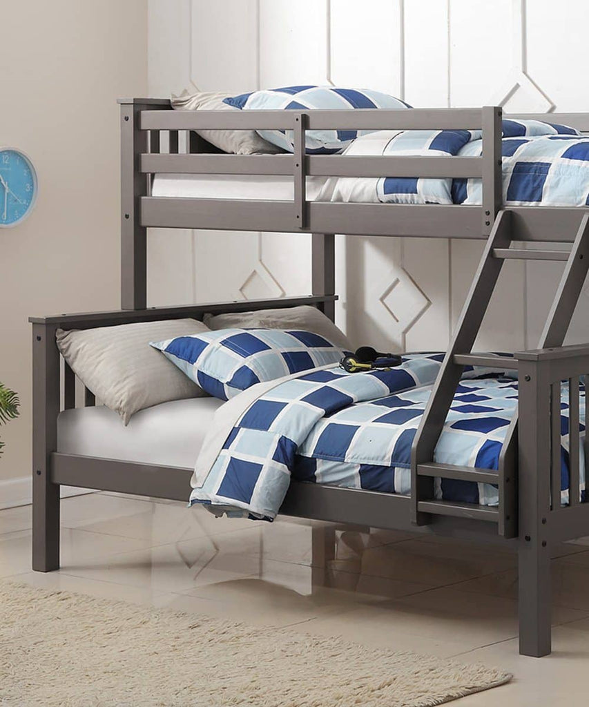 Anthony Gray Twin over Full Bunk Bed Custom Kids Furniture
