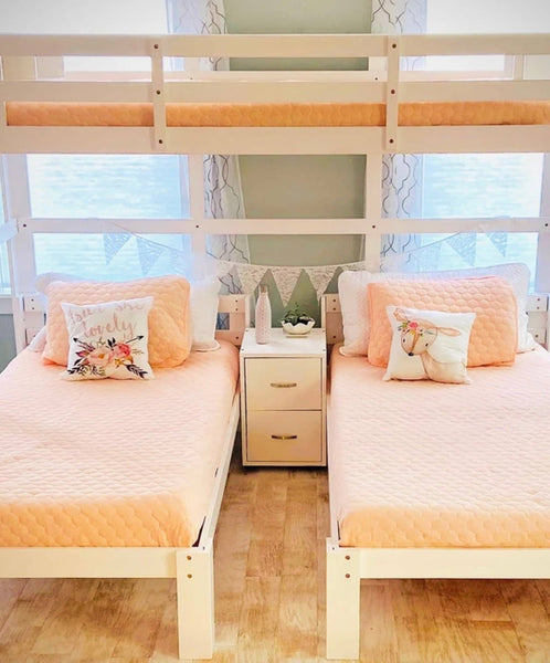 Audrey Triple Bunk Bed in White Custom Kids Furniture