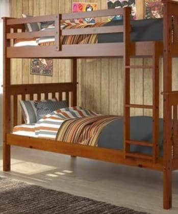 Benjamin Espresso Bunk Bed for Kids Custom Kids Furniture