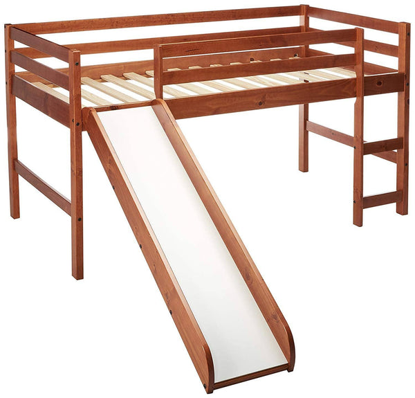 Blake Loft Bed with Slide in Espresso Custom Kids Furniture