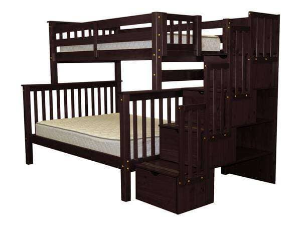 Bo Bunk Beds with Stairs and Shelves Custom Kids Furniture