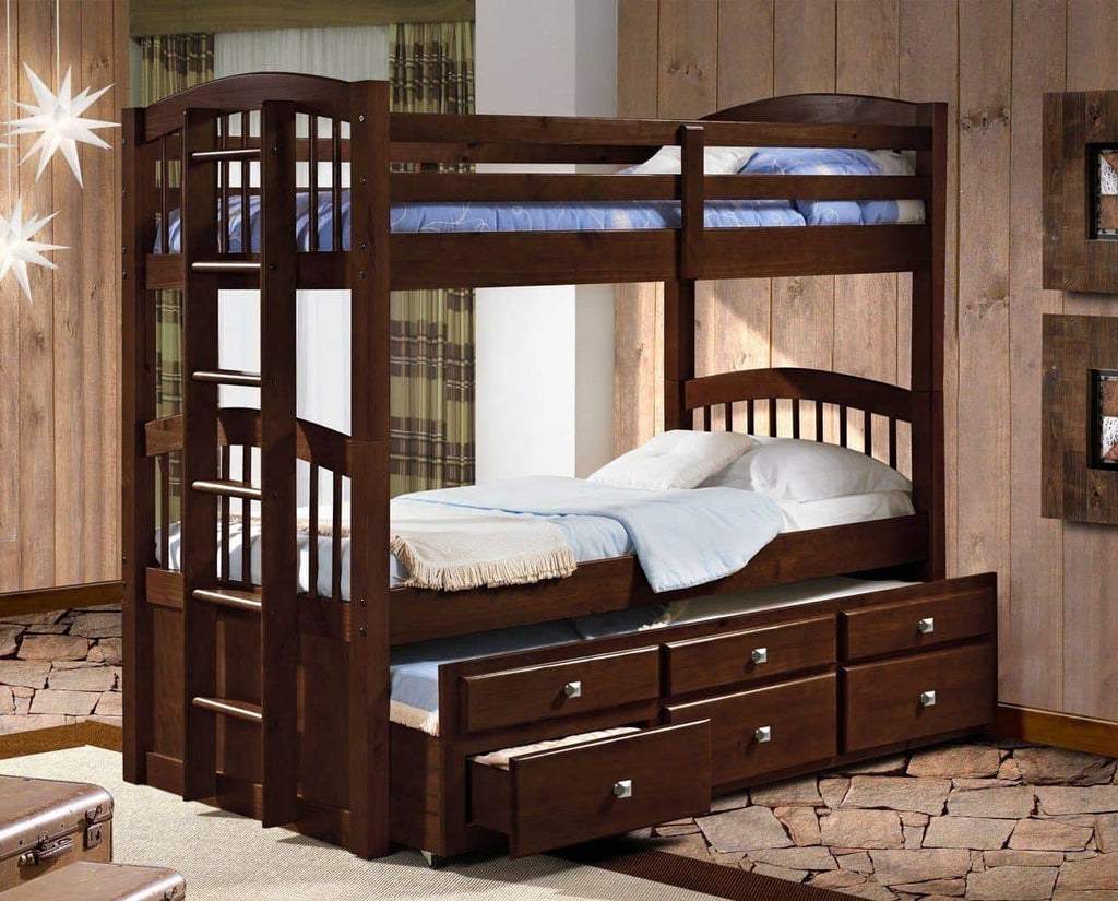 Carter Cappuccino Captains Bunk Bed with Storage Custom Kids Furniture