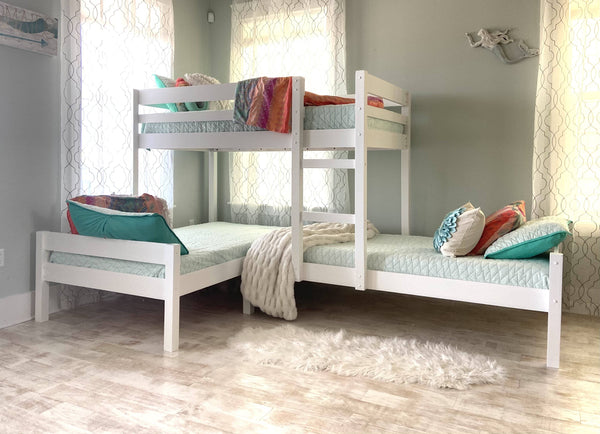 Charlotte Corner Triple Bunk Bed Custom Kids Furniture