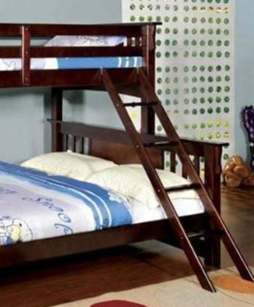 Christian Cappuccino Twin XL over Queen Bunk Bed Custom Kids Furniture