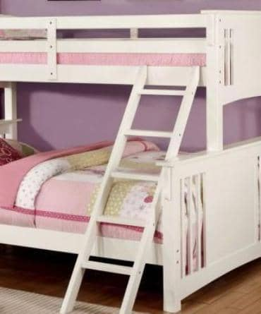 Christian White Twin XL over Queen Bunk Bed Custom Kids Furniture