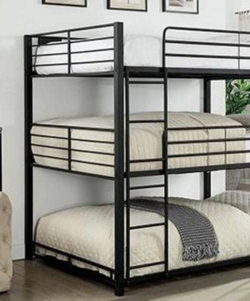 Curtis Contemporary Triple Bunk Bed Custom Kids Furniture