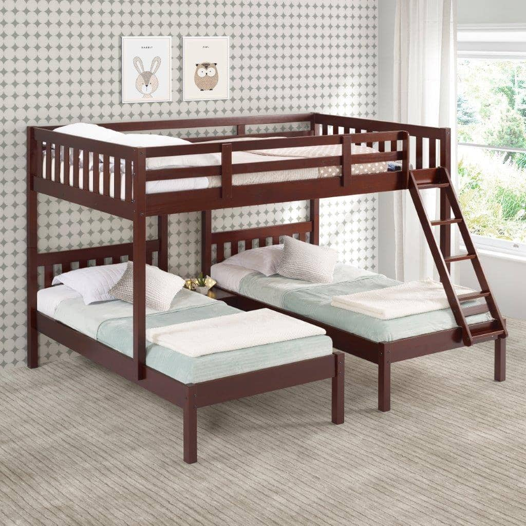 Easton Full over Double Twin Triple Bunk Bed Custom Kids Furniture