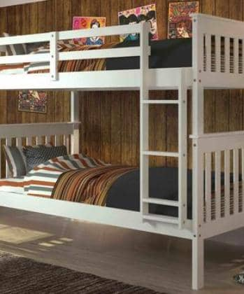Eleanor White Bunk Bed Custom Kids Furniture