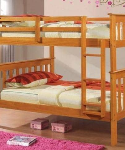 Ella Honey Twin Bunk Bed Custom Kids Furniture