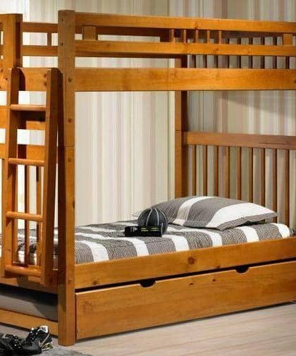 Elliot Tall Honey Bunk Bed Custom Kids Furniture