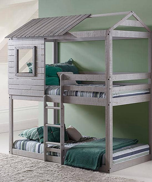 Emma Gray Playhouse Bunk Bed Custom Kids Furniture